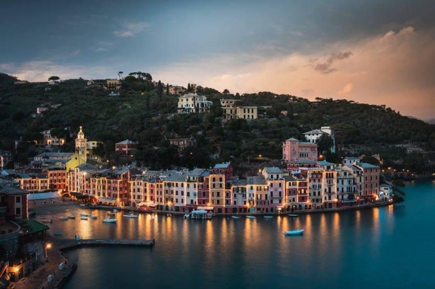Le soir tombe sur Portofino...