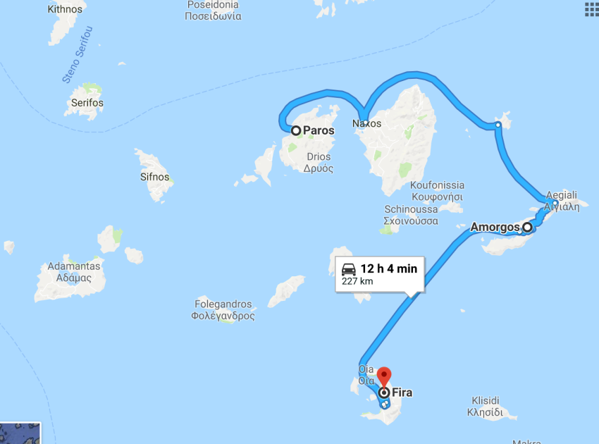 Paros (4 jours) - Amorgos (2 jours) - Santorin (4 jours)