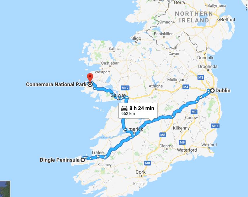 itinéraire Irlande 10 jours